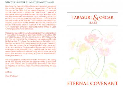 Tabasuri's Wedding Program 1