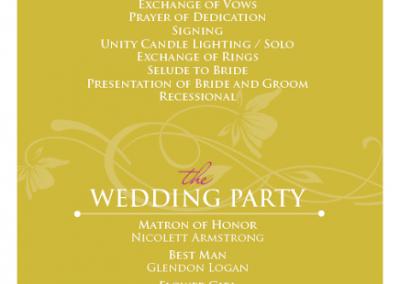 Odette's Wedding Program 2