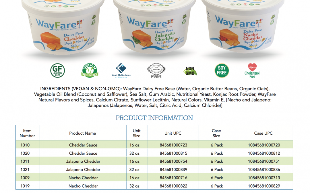 Wayfare Sales Sheet
