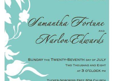 Narlon & Samantha's Wedding Program 1