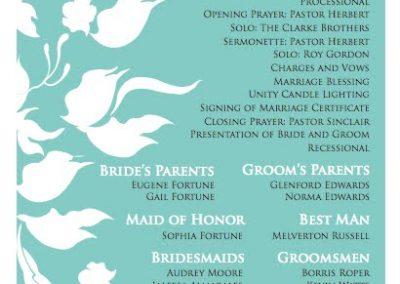 Narlon & Samantha's Wedding Program 2