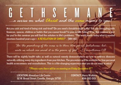 Gethsemane Flyer 2